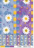 Tablecloth plástico material impresso do PVC da alta qualidade da venda costume quente com revestimento protetor