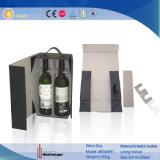 Portador portable de encargo de cuero plegable del vino de la PU 2016 (6045R1)