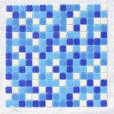 Azulejo barato chino de la natación de Mosaico del mosaico de cristal azul