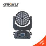 段階ライトのための熱い36pcsx12W RGBWのズームレンズの移動ヘッドライト