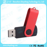 Red Swivel Black Plastic 4GB USB Drive (ZYF1815)