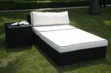 Quadro de alumínio Rattan praia Chaise Lounge Cadeiras Sofá-cama