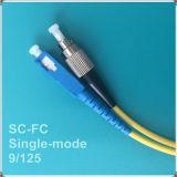 Cuerda de corrección óptica superventas de fibra de la PC FC-Sc
