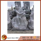Figura bianca moderna scultura della pietra del granito