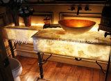 Дешевый желтый деревянный Countertop мрамора зерна (YQC-MC1003)