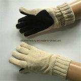 guantes de cuero hechos punto de acrílico del color de la leche de la máquina del círculo 7g