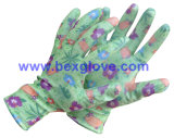 De bloem drukte de Mooie Handschoen van de Manier af