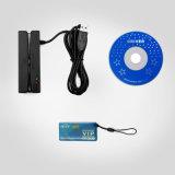 Lector de tarjetas de la raya magnética del USB de Sh100-RF con el programa de escritura sin contacto del lector de tarjetas de RFID con el desarrollo de Sdk