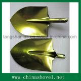 Аграрные головка и лопата лопаткоулавливателя цвета стали инструмента золотистые