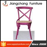 시골 작풍 백색 Crossback 강철 정원 디자인 의자