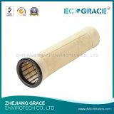Sacchetto filtro di Nomex dell'impianto di miscelazione dell'asfalto con il trattamento della cosa repellente di acqua, resistenza della fiamma