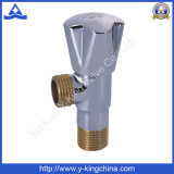 Alta válvula de ángulo de latón pulido para baño (YD-5006)