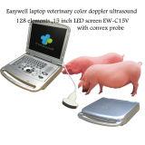 Элементы Ew-C15V ультразвука 128 цвета компьтер-книжки Easywell ветеринарные с выпуклым зондом для подбрюшной оценки