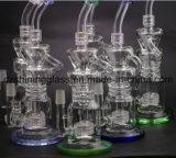 De Rokende Waterpijp van het Glas van Prex Perc Handblown van de SCHAR van de multi-kamer