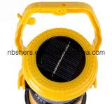 Torche solaire tenue dans la main de lanterne de DEL, USB