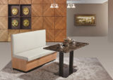 Hoher rückseitiges Leder-Ecken-Kaffee-oder Gaststätte-Stand-Sofa-Großverkauf