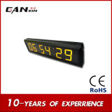 [Ganxin]会議室のための2.3inchスクリーンの黄色LEDデジタル表示装置のクロック