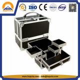 Cassa di treno di alluminio cosmetica per l'artista di trucco (HB-1203)