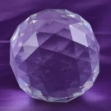 Прозрачное Crystal Glass Ball с Facets, Faceted Crystal Ball