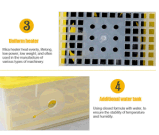 Caldo! Una mini incubatrice dei 48 uova di 34$ Hhd con controllo automatico