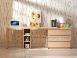 Mesa de escritório/tabela Stretchable de madeira do computador com a caixa de gavetas e de biblioteca