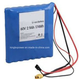 Rechargeable qualificato Cyclidrical 18650 Li Ion 2900mAh 60V Battery