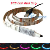 5050 USB LED RGB Strip 5V 1.2Wを防水しなさい