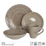 OEM Popular New Original Design Produtos de qualidade Conjunto de jantar cerâmico em relevo