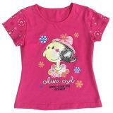 Printingsgt-080를 가진 아이들 아이 t-셔츠에 있는 형식 꽃파는 아가씨 아기 옷