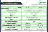 Zj-600 de intelligente Zuiveringsinstallatie van de Lucht van de Hoge Efficiency plafond-Opgezette