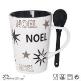 행복한 Christmas Day 12oz v Shape With Spoon Mug