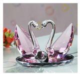 Presente de casamento de cristal do artesanato da decoração de cristal creativa do quarto da cisne