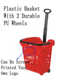 40/50L Plastic Supermarket Basket mit Single Handle