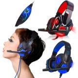Bester USB 3.5mm LED Surround Stereo Gaming Headset Headband Headphone mit Mic für PC