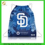 Мешок шнура полиэфира, изготовленный на заказ отпечаток логоса будет гостеприимсвом (14040803)