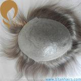 """Toupee fino super invisível da pele do cabelo humano do laço de 7 V """" X9 """""""