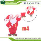 Santa Claus 16GB USB Flash Drive para presente de Natal
