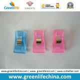 Agrafes promotionnelles d'identification de couleur de papeterie chaude en plastique blanche de bureau de vente