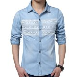 Personalità Fashion Long Sleeve Denim Shirt per Men