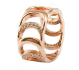 새로운 반지 (R10547)가 도착 최신 판매 925 순은에 의하여 CZ 돌을 던진다