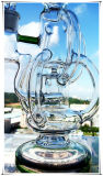[هب-ك50] [رسكلر] متوافقة [برك] ثلاثيّ دورات صليب شكل يحنى عنق زجاجيّة يدخّن [وتر بيب]