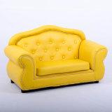 Jeu en cuir coloré lumineux de sofa d'unité centrale de sofa de première qualité de 2 portées