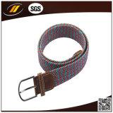 Cinghia di tela di canapa Braided dell'inarcamento di Pin della lega di modo di conclusione del cuoio genuino