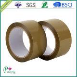 Fita autoadesiva da embalagem de selagem da cor BOPP de Brown da alta qualidade
