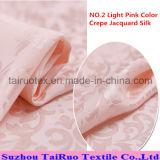 La soie estampée réactive de jacquard de Crepe pour la soie a quitté le tissu