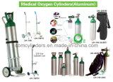 Grande carrello del cilindro di ossigeno (bianco della vernice)