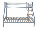 Metall Triple Sleeper Bed mit Wooden Slats Base