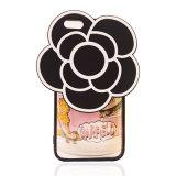caja del teléfono celular del silicón de la flor de la camelia 3D con el acollador (XSDD-027)