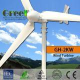fora-Grade da turbina de vento da linha central 3kw e sistema horizontais da em-Grade