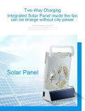 портативный солнечный вентилятор DC вентилятора таблицы 3in1 солнечный с светом СИД